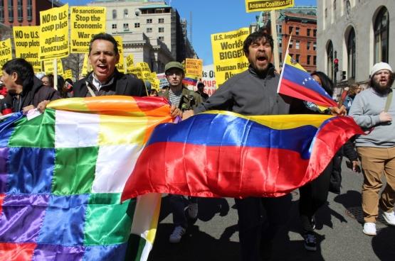 Betoging in de VS tegen het beleid van Trump tegen Venezuela. (Foto Elvert Barnes / Flickr)