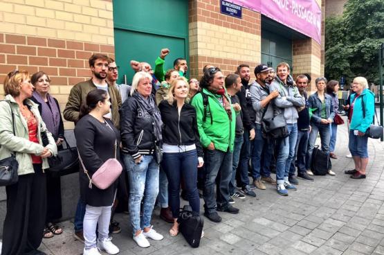 Werknemers van Fnac in Brussel.  (Foto Solidair, Françoise De Smedt)