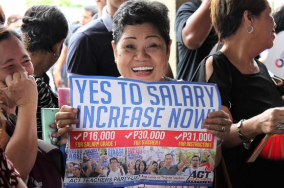 De Filipijnse vakbonden liggen door het hardhandig optreden van president Duterte meer dan ooit onder vuur. (Foto, alle rechten voorbehouden)