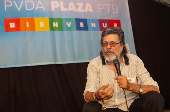 Abel Prieto, voormalig Cubaans minister van Cultuur. (Foto Solidair, Dieter Boone)