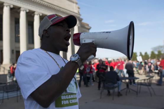 De vakbond wint weer aan populariteit. Drie kwart van de nieuwe vakbondsleden in de VS zijn jonger dan 35 jaar. (Foto Fibonnaci Blue, Flickr)