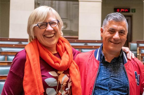 Maria Vindevoghel en Roberto d'Amico. (Foto Solidair, Stefaan Van Parys)