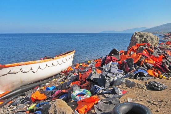 Het Griekse eiland Lesbos (Foto Jim Black, Pixabay)