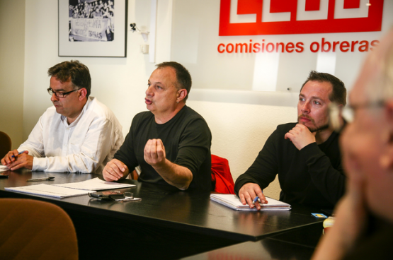 Agustin Martin (in het midden) (Foto CCOO)