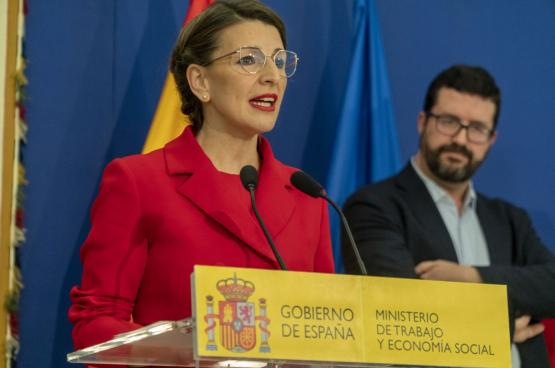 Yolanda Diaz, minister van Arbeid en Sociale Economie (Foto Ministerie van Arbeid, Spanje)