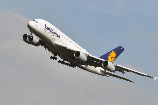 Een vliegtuig van Lufthansa, eigenaar van Brussels Airlines. (Foto: Shutterstock)