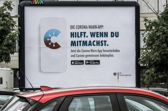 Op 16 juni lanceerde Duitsland de Corona Warn App, die door 15% van de bevolking gedownload werd. (Foto Photoheuristic.info, Flickr