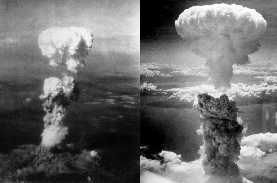 Atoombommen op Hiroshima en Nagasaki. (Foto's: George R. Caron)