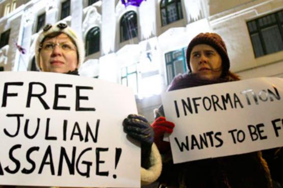 In 2010 vonden in de Verenigde Staten al mobilisaties plaats om de vrijlating van Assange en een betere bescherming voor klokkenluiders te vragen. (Foto: Flickr)
