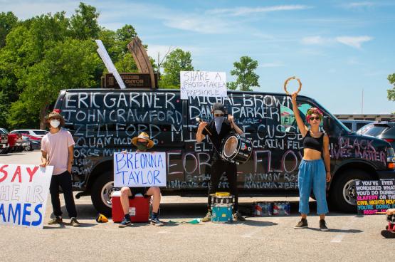 Betogingen tegen de politiek van Trump, tegen het politiegeweld, tegen racisme...zijn dagelijkse kost in de VS (Foto risingthermals, Flickr)