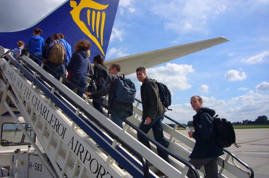 De Europese vereniging van luchtvaartmaatschappijen schat dat Ryanair 2012 in Europa 800 miljoen euro steun ontving. (Foto PanaTomix, Flickr)