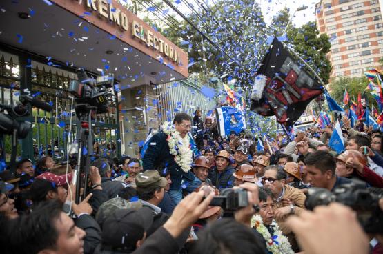 Luis Arce, de kandidaat van 'Beweging naar het Socialisme' van Evo Morales won de presidentsverkiezingen met een een monsterscore. (Foto: Shutterstock)