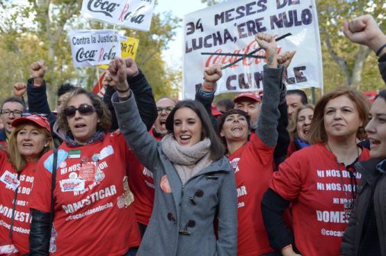 """Irene Montero: """"Minder dan een jaar geleden was het nog ondenkbaar dat eisen van de feministische beweging daadwerkelijk wet zouden worden."""" (Foto Facebookpagina Irene Montero)"""