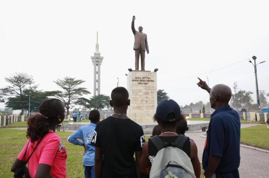 Monument ter ere van Lumumba in Kinshasa (Foto MONUSCO, Flickr)