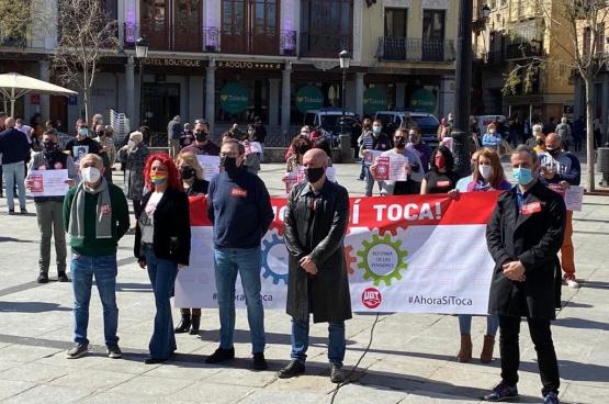 Manifestatie in gemeenschappelijk vakbondsfront (Foto Facebook CCOO)