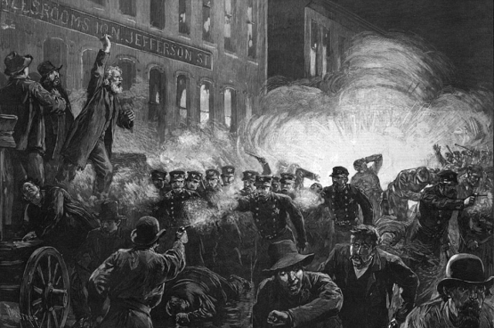"""""""The Haymarket riot"""", Haymarket Square, Chicago, 1886"""