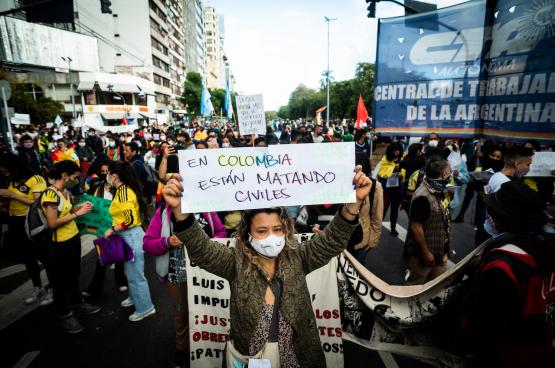 """""""In Colombia worden burgers vermoord."""" (Foto Belga)"""