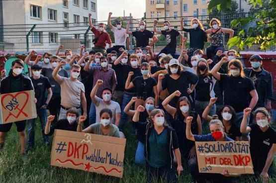 Foto SDAJ, de jongerenbeweging van de DKP