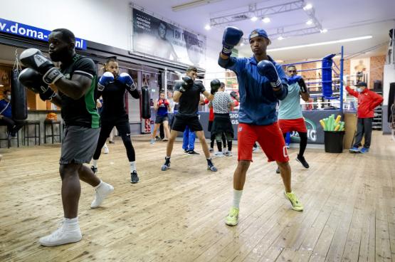 Cubaanse boksers trainen voor de Olympische Spelen (Foto Belga)