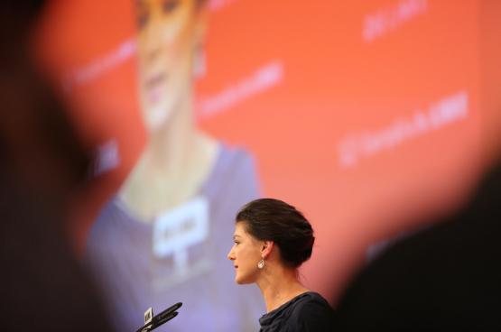 Voor Sahra Wagenknecht, boegbeeld van Die Linke, staat geen van de drie kandidaat-opvolgers voor Merkel garant voor een socialer Duitsland. (Foto Die Linke)